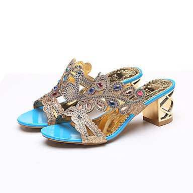 Evening Dress Novelty CN37 Rhinestone Walking Sliver UK4 Heel Sandals US6 Party amp;Amp; 5 Leatherette 5 EU37 5 RTRY Gold Summer 7 Wedge Casual Y0FqAE