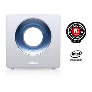 ASUS Dual-Band Wireless Router (AC2600) Smart Homes, Featuring Intel WiFi Technology (up to 2600 Mbps) & Free Lifetime Internet Security Trend Micro, Works Amazon Alexa & Echo (Blue Cave)