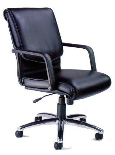 Mayline Mercado Wood - Mayline ALBLK Mercado Chair Black Leather