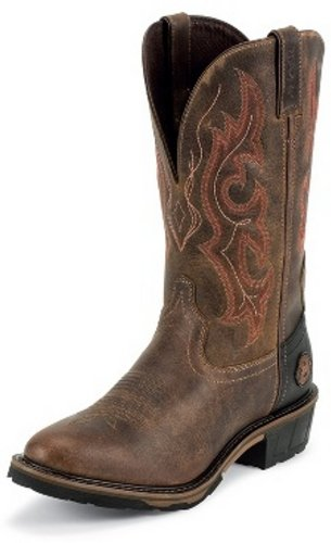 Justin Boots WK4628 Men's Rugged Utah Boots 10D Brown
