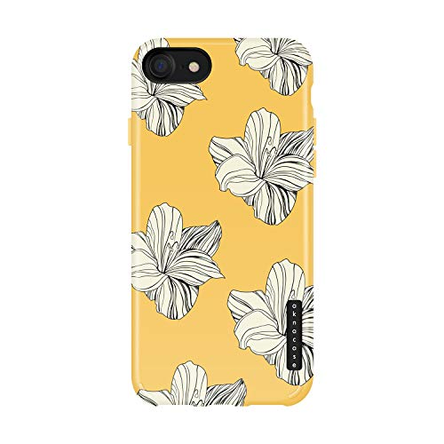 iPhone 8 & iPhone 7 case Flower, Akna Collection Flexible Silicon Cover for Both iPhone 8 & iPhone 7 (1247-U.S)
