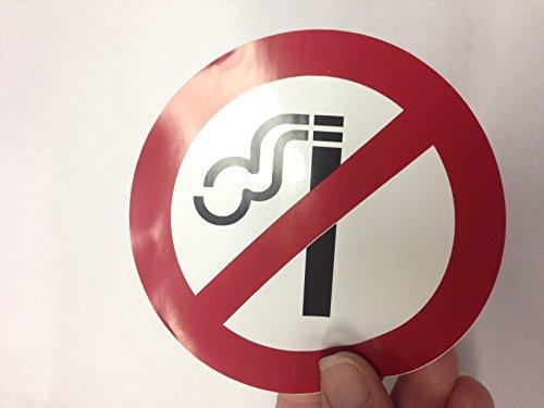 Highway Traffic Supply 4 Pack of NO SMOKING 4 Dia Sign Decal Sticker Window Door Wall stop smoke logo