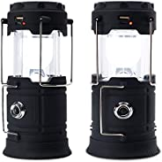 Solar Camping Light, USB Rechargeable Lantern Flashlight Outdoor Super Bright Recharge Portable Light for Cam,