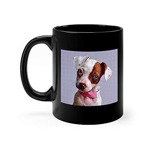 ell Terrier Dog In Animal Shelter Favorite Drink Mug 11 Oz Ceramic ()