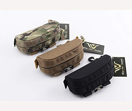 Warrior Quest Anti-Shock 1050D Nylon Molle System Sunglasses Pouch - Sunglasses Bag Cases Eye Glasses Box Holder (Semi-Hard ()