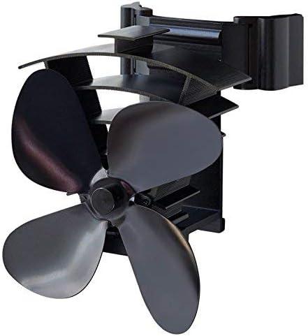 Valiant Ventilador de estufa alimentado por calor, negro, FIR350