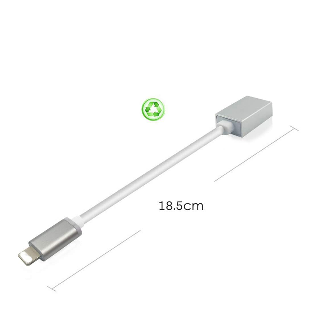 Luckind maschio a femmina adattatore USB cavo OTG compatto con iOS 10.3/above kit di connessione fotocamera digitale piano microfono audio interfaccia MIDI tastiera