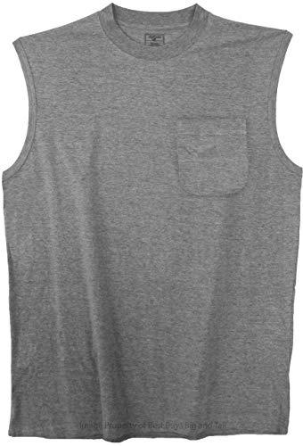 Best Buys Big & Tall Foxfire Pocket Muscle Tee Gray 5XLT #501C