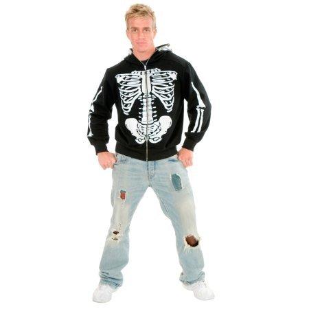 Skeleton Hoodie Costume - X-Large - Chest Size 44 (Skeleton Hoodie Teen Costume)