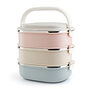 07ba1361fb Amazon.com: Modalee 304 Stainless Steel Lunch Box Kids Bento Box ...