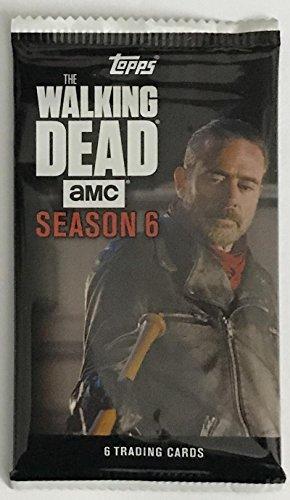 (HCW) 2017 Topps The Walking Dead Season 6 Negan AMC – 6 Card Sealed Pack