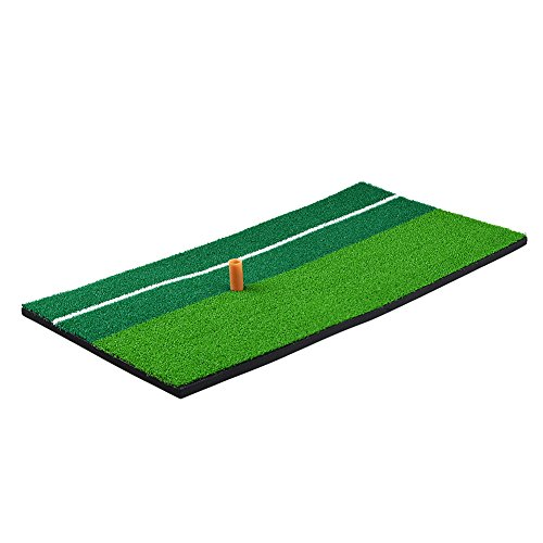 RUNACC Portable Golf Hitting Mat Residential Practice Hitting Mat Mini Golf Hitting Pad with Tee, Suitable for Golf, Green by RUNACC