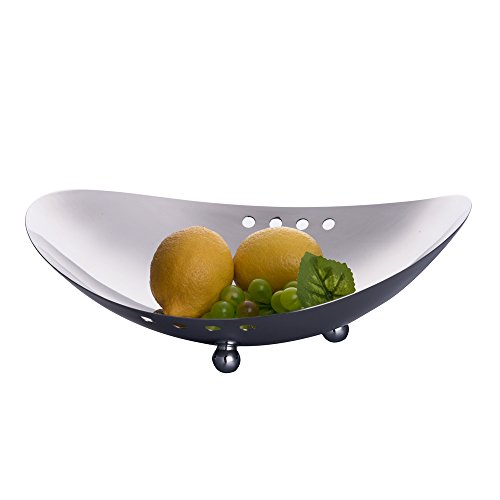 IMEEA Fruit Bowl Serving Bowl for Candy Decorative Centerpiece Bowl SUS304 Stainless Steel, 11.8 inch