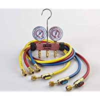 CPS MEBP5E Piston Series 2 Valve Manifold - Pink Body, with 5 Ball Valve Hose Set