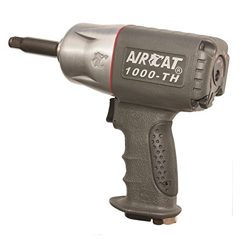AIRCAT 1000-TH-2 1/2-Inch Composite Air Impact Wrench with Twin Hammer Mechanism and Extended 2-Inch Anvil