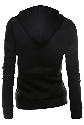 Sportswear Style Jacket Minetom Nero Zipper Casual Jacket Women Hoodie Short BwwY8x1qa