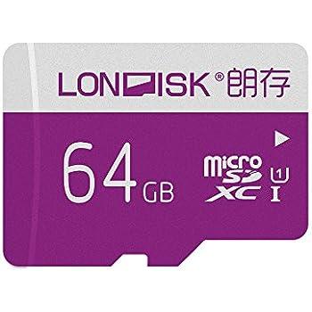 Amazon.com: LONDISK - Tarjeta de memoria micro SD (64 GB ...