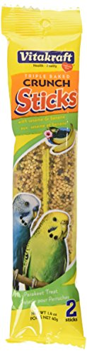 Egg Sticks (Vitakraft Parakeet Banana Sticks Treat, 1.4 Ounce Bag)