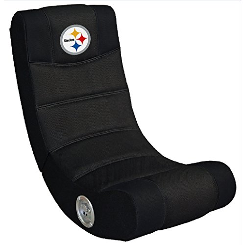 Imperial Officially Licensed NFL Furniture: Ergonomic Video Rocker Gaming Chair with Bluetooth, Pittsburgh -