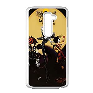 LG G2 Cell Phone Case White Kingdom Hearts Halloween Town ymeh
