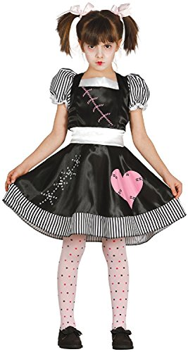 Girls Killer Rag Doll Halloween Horror Film TV Book Scary Cute Carnival Fancy Dress Costume Outfit 5-12 yrs (10-12 -