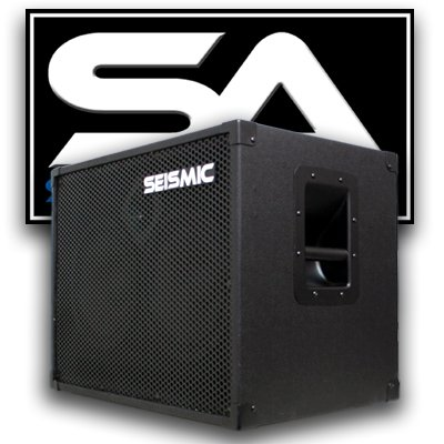 Seismic Audio - 210 Bass Guitar Speaker Cabinet with Horn and Volume Control PA DJ 200 Watts 2x10 PRO AUDIO by Seismic Audio