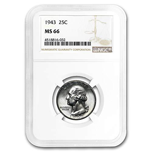 1943 Washington Quarter MS-66 NGC Quarter MS-66 NGC