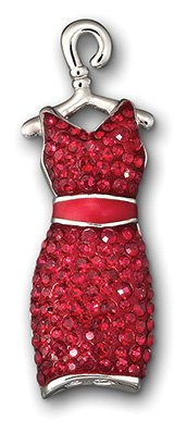 Swarovski Red Dress Tack Pin 1090814