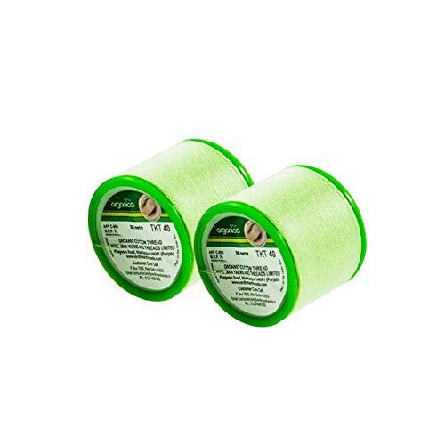 Organica Faden zum Augenbrauenzupfen aus Biobaumwolle, aus Indien, 2 Spulen je 300 m