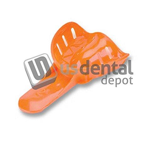 PLASDENT - Excellent-Colors #2 Child Medium-Upper - # ITO-2U - Color: Orange - (25 Pcs/Bag) - Ortho Impression Trays [ disposable plastic impression trays ] 001-ITO-2U DENMED Wholesale
