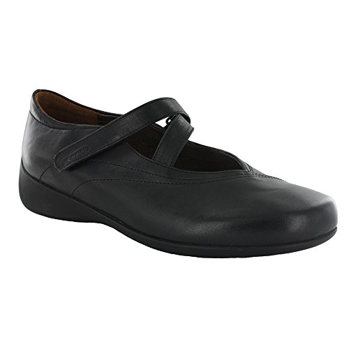 Wolky Women's Passion Black Smooth Leather Flat 36 (US Women's 4.5-5) B (M)