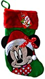 "Disney Minnie Mouse 18"" Inch Big Face Christmas Stocking"