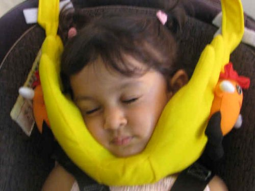 Amazon Mothers Hand Headrest Head Support For Kids Travel Pillow Yellow Baby