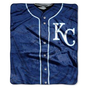 MLB Kansas City Royals Jersey Plush Raschel Throw, 50