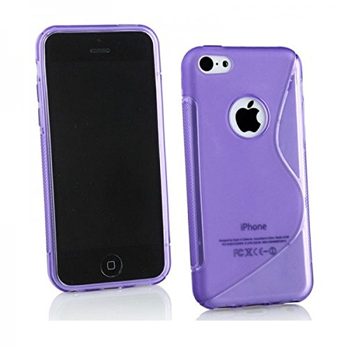 Étui protection d'écran F Apple iPhone 6en verre Case S Line Coque Bag Violet