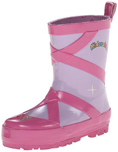Kidorable Ballet Rain Boot , Pink, 10 M US Toddler