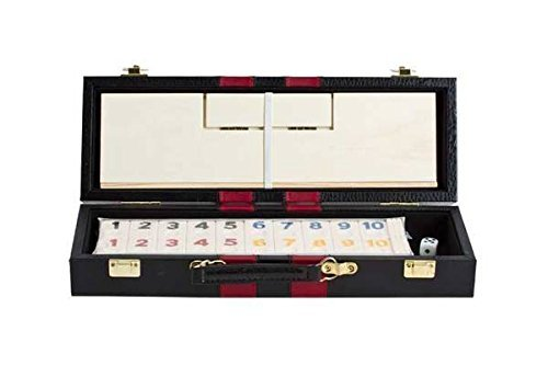 (Deluxe Rummy with Wooden Racks in Attache Case)