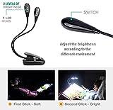 8 LED Music Stand Light 3modes USB Book Light White