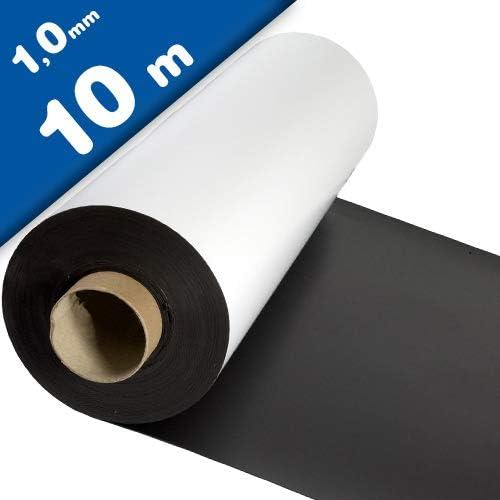 Lámina magnética blanco mate 1mm x 1m x 10m - crear imanes personalizados, adhiere a todas superficies metálicas: Amazon.es: Hogar