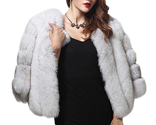 Fourrure De Parka Femmes Manteau Fox Color Chaud Courte Fausse Veste wXHftStq