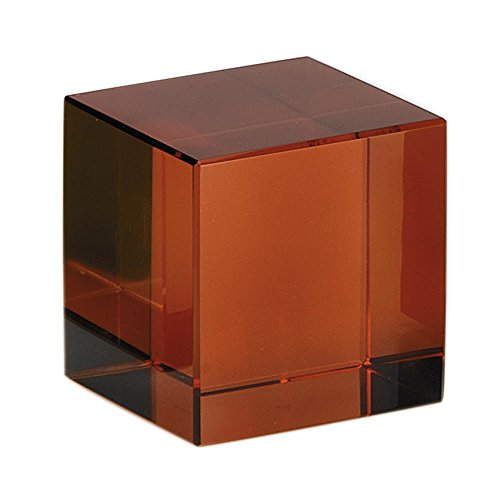 Moser Crystal Topaz Square Cube Paperweight