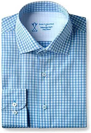 Camisa vestir hombre cuadros azules: Amazon.es: Ropa y accesorios
