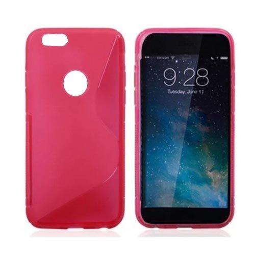SCHUTZHÜLLE FÜR APPLE iPHONE 6 PLUS S-LINE SILIKON HÜLLE CASE COVER IN PINK + DISPLAYSCHUTZFOLIE VON GADGET BOXX