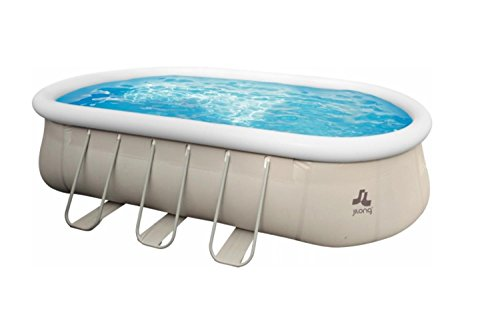 18' Chinook Gray Oval Steel Frame Above Ground Swimming Pool Set