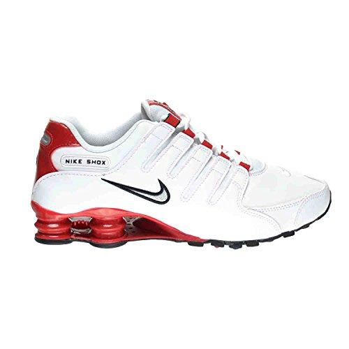Nike Shox NZ Men's Shoes White/Metallic Silver-University Red 378341-110 (9 D(M) US)