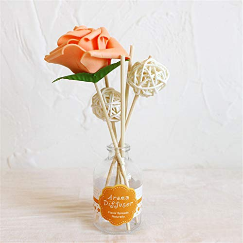 (vmree 50 ML Reed Oil Diffusers with Natural Sticks, Aromatherapy Rose Flower, Glass Bottle and Scented Oil (Osmanthus, 50ML))