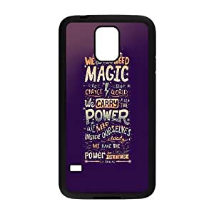 Samsung Galaxy S5 Cell Phone Case Black We Do Not Need Magic JK Rowling LSO7956370