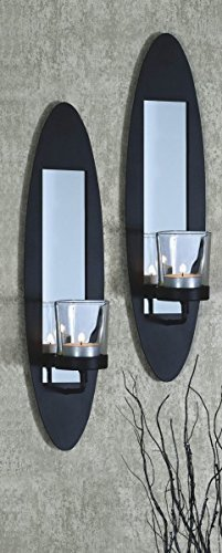 gravidus Set of Two Wall Mounted Candle Holder Candle Holder Deco