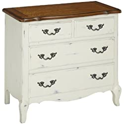 Home Styles 5518-41 The French Countryside Drawer Chest, Oak/Rubbed White