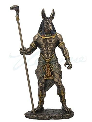 Veronese (ヴェロネーゼ) 笏を持つアヌビス 冥界の神 コブラ エジプト神話 ブロンズ風 フィギュア B076D9W6ZX